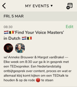 Clubhouse Room: 'Find Your Voice Masters' in Dutch
